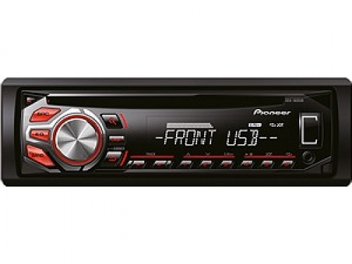 PIONEER DEH-1600UB USB-TUNER WEISS-ROT