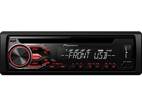 PIONEER DEH-1800UB USB-TUNER WEISS-ROT