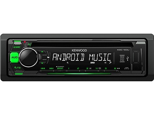 KENWOOD KDC-100UG MP3-TUNER GREEN USB AUX-IN