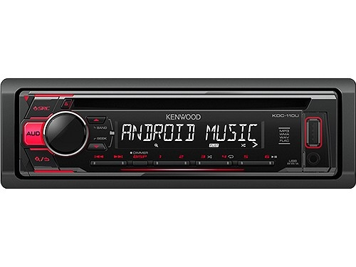 KENWOOD KDC-110UR MP3-TUNER RED USB AUX-IN