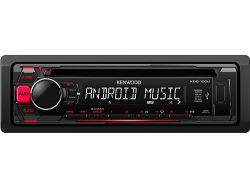 KENWOOD KDC-100UR MP3-TUNER RED USB AUX-IN